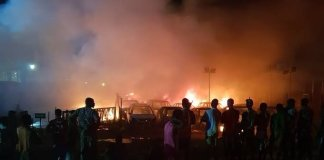 No less than two people have been reported dead following a pipeline explosion in Abule Egba, Lagos