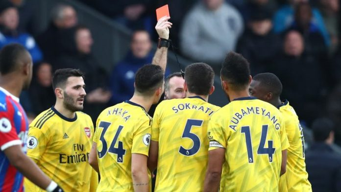 Aubameyang set to miss crunch clash against Chelsea after red card
