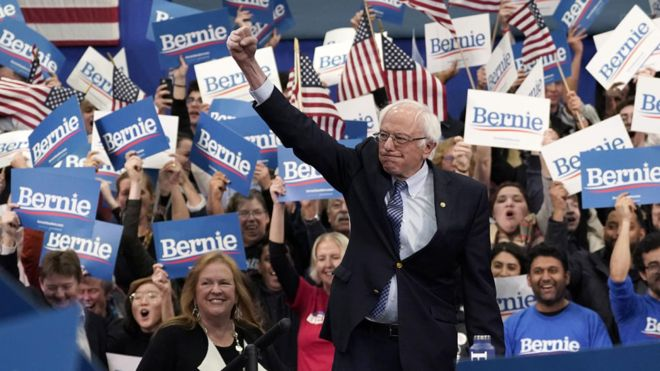 Bernie Sanders now lead the Democratic race after wins in Iowa and New Hampshire
