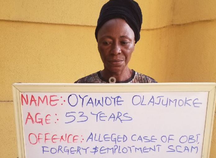 Oyawoye Olajumoke has been arrested by EFCC for employment scam