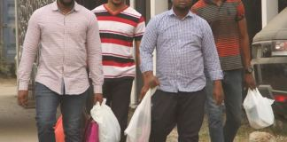The suspects arraigned by EFCC for fraud