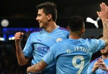 Rodri scored his first goal at Etihad for City