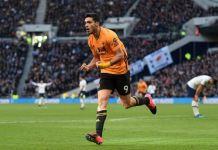 Raul Jimenez scored his 17th goal of the season against Tottenham