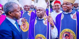 Vice President Yemi Osinbajo, SAN, attended the Catholic Bishops Conference of Nigeria's 1st Plenary Session for 2020, today with a Holy Mass held at the Catholic Secretariat of Nigeria, Abuja presided over by the CBCN president, Archbishop Augustine Akubeze