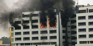 Fire gutted the office of the Accountant General of the Federation