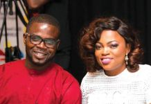 Funke Akindele and her husband JJC Skillz