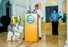 Governor Dapo Abiodun of Ogun State providing COVID-19 updates