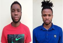 Idahosa Bobby and Aidamebor Israel were jailed for internet fraud