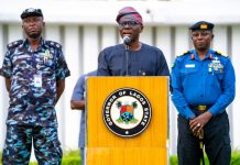 Governor Babajide Sanwo-Olu of Lagos providing updates on coronavirus pandemic LASU