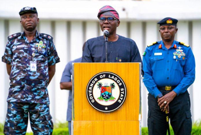 Governor Babajide Sanwo-Olu of Lagos providing updates on coronavirus pandemic LASU