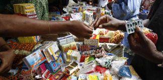Drugs sold in open market in Lagos, Nigeria