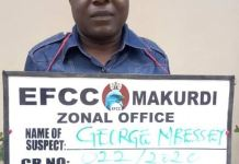 EFCC nabs George Mbessey, Commandant, Benue State Vigilante Group, BSVG