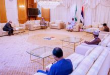 President Muhammadu Buhari on Sunday received briefing from the Presidential Task Force on COVID-19
