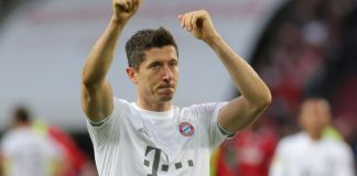 Robert Lewandowski's penalty was his 40th goal of the season for Bayern Munich