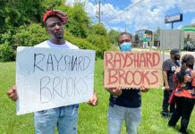 A cousin of Rayshard Brooks, Decatur Redd protest his killing