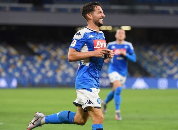 Dries Mertens scored the winning goal as Napoli beat Juventus to win Coppa Italia