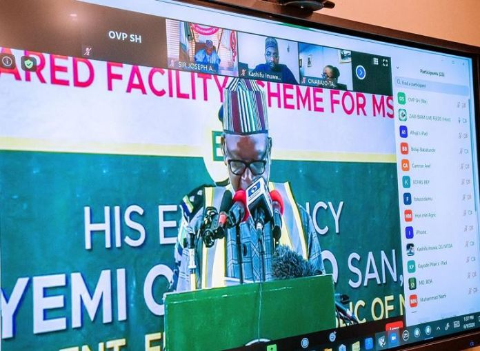 Governor Samuel Ortom during the launch of Zaki Biam yam facility in Benue state