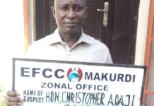 Benue Deputy Speaker, Honourable Christopher Adaji arrested for fraud