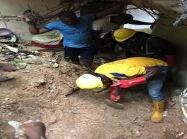 Two children have died following a building collapse in Lagos