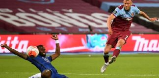 Andriy Yarmolenko scored a late goal to help West Ham do a double over Chelsea