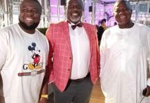 Hushpuppi with PDP leaders Senator Dino Melaye and former Speaker, Yakubu Dogara