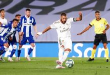 Karim Benzema struck from the spot to give Real Madrid the lead