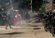 Police used pepper spray against protesters in Seattle