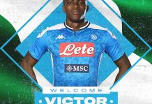 Victor Osimhen has completed his record move to Napoli from Lille