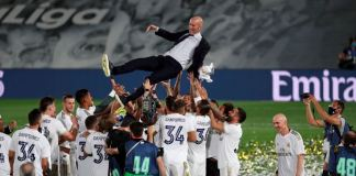 This is Zinedine Zidane's second La Liga title as Real Madrid boss
