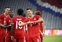 Robert Lewandowski scored three and assisted four goals over the two legs
