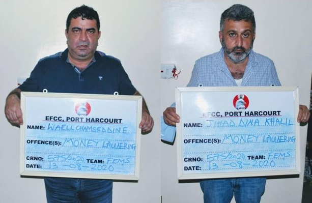 Two Lebanese Waell Chamseddine and Jihad Dina Khalil were arraigned by EFCC
