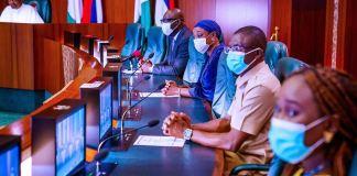 President Muhammadu Buhari received Governor Godwin Obaseki and his deputy at the Aso Villa