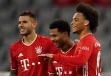 Serge Gnabry and Leroy Sane scored for Bayern Munich in the demolition of Schalke