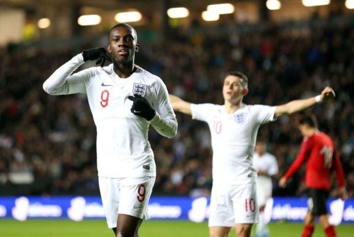 Eddie Nketiah is England's under 21 record goal scorer