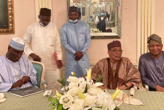 General Ibrahim Babangida received Atiku Abubakar to his country home in Minna, Niger state