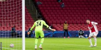 Nicolas Tagliafico is the second player to score an own goal for Ajax in a Champions League match, after Vurnon Anita against Real Madrid in September 2010