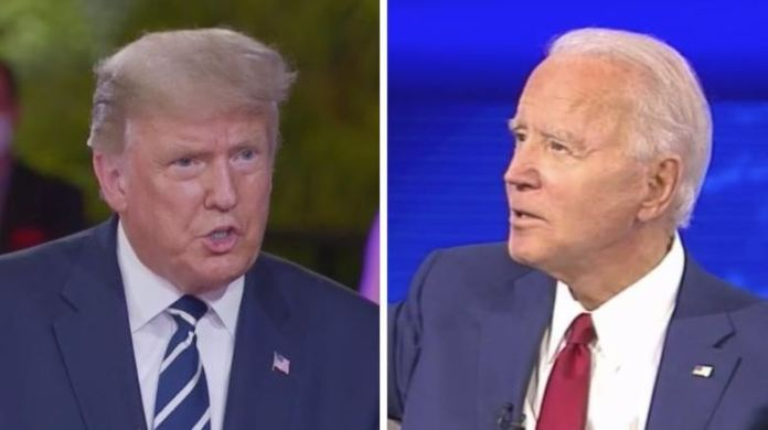 President Donald Trump and Joe Biden both had town hall meetings on Thursday after their shelved presidential debate due to coronavirus