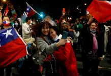 Thousands of people have been gathering to celebrate in major Chilean cities