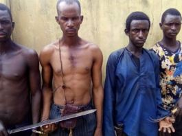 The suspects who attacked Christ Apostolic Church in Ogun state
