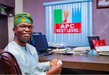 APC's Tokunbo Abiru has won the Lagos East Senatorial District bye-election