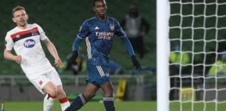 Eddie Nketiah scored his fifth goal this campaign to become the club's leading scorer this season