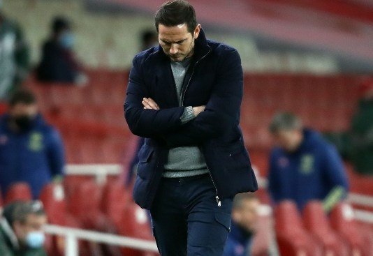 Frank Lampard is under pressure after a string of losses