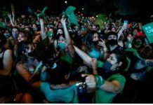 argentine women celebrate abortion bill