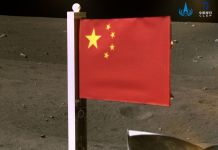 China flag on the moon