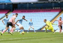 Gabriel Jesus scored a first half goal to help Manchester City beat Sheffield United