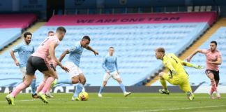 Gabriel Jesus scored a first half goal to help Manchester City beat Sheffield United