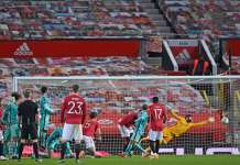Bruno Fernades Scored a superb freekick to secure the win for Manchester United