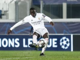 Ferland Mendy scored his first Champions League for Real Madrid