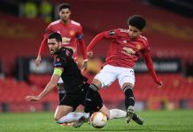 Shola Shoretire replaced Mason Greenwood in the second half for his Manchester United debut in the Europa League