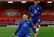 Mason Mount scored his fifth Premier League goal of the season as Chelsea beat Liverpool at Anfield